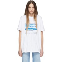 Martine Rose White Wobbly T Shirt