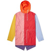 Comme Des Garcons Shirt Colour Block Parka Multi