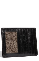 Women's Hobo 'Euro Slide' Credit Card And Passport Case Black