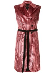 Ann Demeulemeester Striped Velvet Long Gilet 60