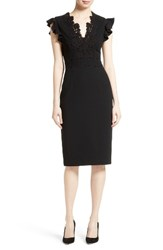 Rebecca Taylor Women's Crepe And Lace Cocktail Dress