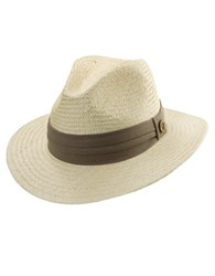 Tommy Bahama Textured Wide Brim Fedora Taupe