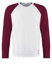 Carhartt Wip Dodgers Long Sleeved Top White Chianti Bordeaux