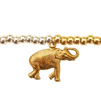 Lucci Charmers Elephant Charm Bracelet Metallic Silver