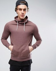 New Look Funnel Neck Sweatshirt In Light Brown Light Purple