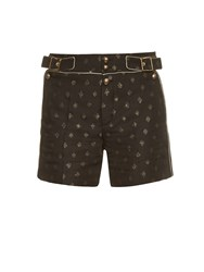 Chloe Diamond Jacquard High Waisted Shorts