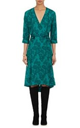 Maison Mayle Georgette Wrap Dress Green
