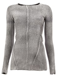 Avant Toi Slim Fit Pullover Grey