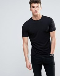New Look Muscle Fit T Shirt In Black Black