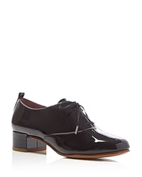 Marc Jacobs Betty Lace Up Mid Heel Oxfords Black