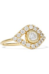 Sydney Evan Evil Eye 14 Karat Gold Diamond Ring 7