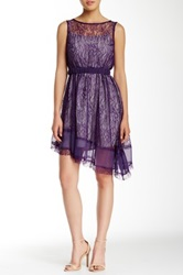 Ryu Boatneck Lace Sleeveless Dress Purple