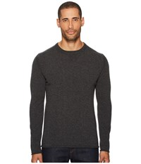 Billy Reid Cashmere Crew Sweater Charcoal Gray