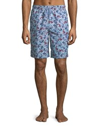Peter Millar Koi Pond Swim Trunks Light Blue