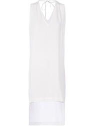 Ilaria Nistri Asymmetric Shift Dress White
