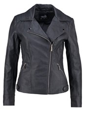 Wallis Anna Faux Leather Jacket Dark Grey