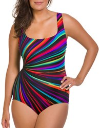 Longitude Printed One Piece Black