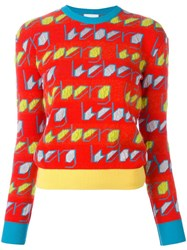 Iceberg Logo Pattern Jumper Red