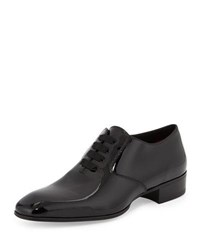 Tom Ford Gianni Patent Leather Lace Up Shoe Black
