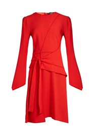 Proenza Schouler Asymmetric Panelled Crepe Dress Red