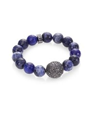 Nest Sodalite Beaded Stretch Bracelet