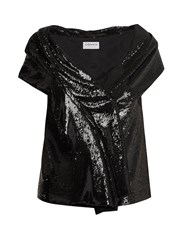 Osman Sigourni Sequin Embellished Top Black