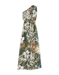Giorgia And Johns Long Dresses Military Green
