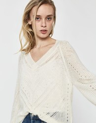 Just Female Garla Open Knit Sweater Off White