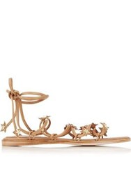 Miista Rula Tie Up Star Sandals Tan