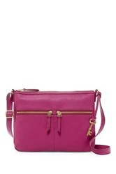 Fossil Erin Leather Crossbody Pink