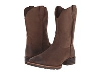 Ariat Hybrid Street Side Chocolate Nubuck Cowboy Boots Brown