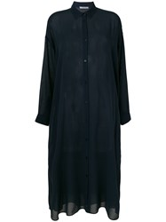 Dusan Oversized Shirt Dress Blue