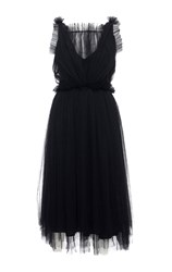 Elenareva Netted Sleeveless Dress Black