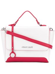 Armani Jeans Mano Shoulder Bag Women Polyester One Size White