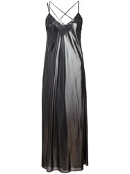 Michelle Mason Metallic Bias Gown
