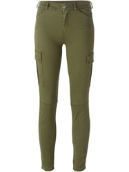 7 For All Mankind Skinny Cargo Jeans Green
