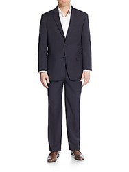 Tommy Hilfiger Regular Fit Wool Blend Suit Navy