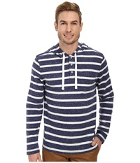 Nautica Striped Hoodie Passage Navy Men's Sweatshirt Black