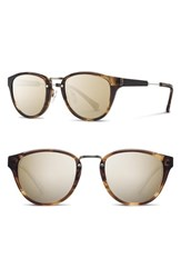 Shwood Women's 'Ainsworth' 49Mm Acetate And Wood Sunglasses Bourbon Silver Gold Bourbon Silver Gold