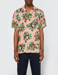 Obey Paradise Woven Ss Shirt Rose Multi