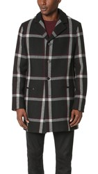 Mcq By Alexander Mcqueen Curtis Coat Black Tartan