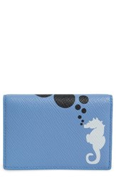 Smythson Women's Seahorse Leather Card Case