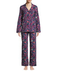 Bedhead Berries And Blooms Classic Pajama Set Blue Pattern