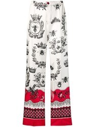 F.R.S For Restless Sleepers Printed Palazzo Trousers Red