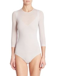 Wolford Opaque Transparent Nature Bodysuit Light Lilac Black