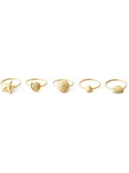 Valentino Garavani Set Of Five Shell Rings