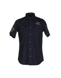 Aeronautica Militare Shirts Shirts Men Dark Blue