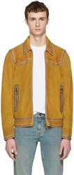 Dsquared2 Tan Suede Studded Western Jacket