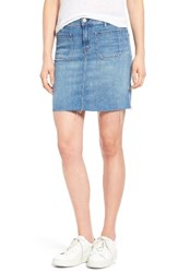 Mother Women's Patchie High Waist Denim Miniskirt