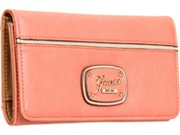 Guess Briza Slim Clutch Coral Multi Clutch Handbags